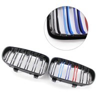 Replacement Front Center Kidney Grilles for BMW 1 Series E81 E87 120d 120i 130i Gloss Black Mixed Color Front Grill 2008 2011