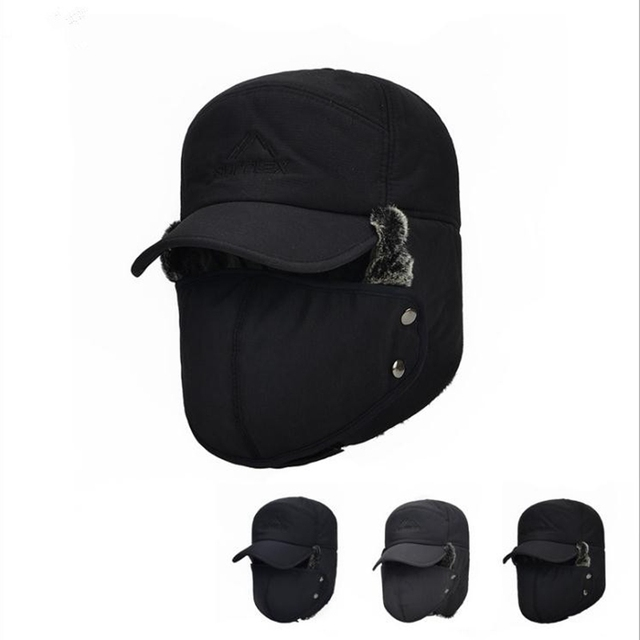 Lei Feng hat winter hat men s ear protection face middle-aged thick warm  cotton cap duck tongue baseball cap 45921a9b481c