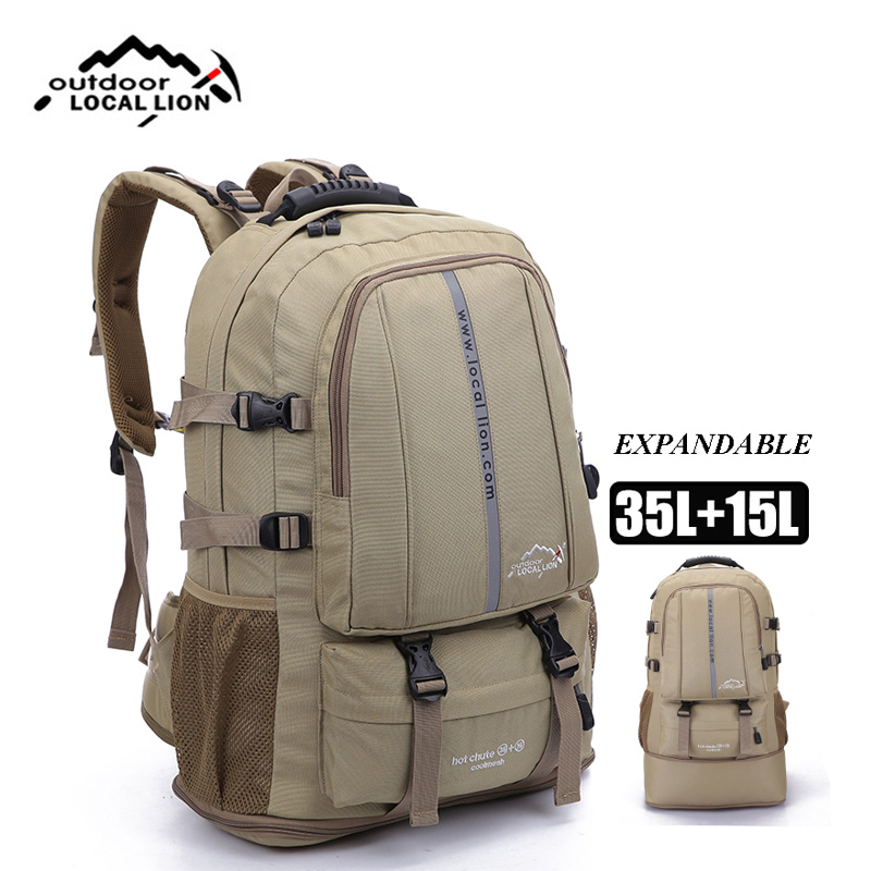 Adjustable Size Outdoor Sports Backpack Large Capacity Travel Rucksack Heavy Duty Bag Men and Women Camping Hiking Backpacks дырокол deli heavy duty e0130