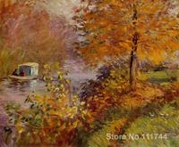 The Studio Boat Claude Monet garden oil painting reproduction Hand painted High quality