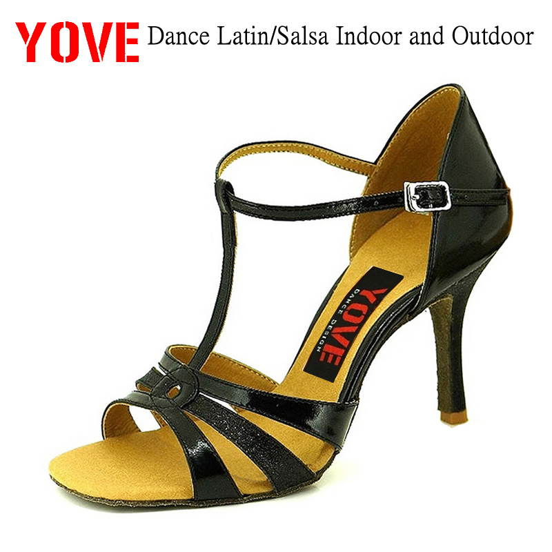 YOVE Style w123-2 Dansesko Bachata / Salsa Indoor og Outdoor Women's Dance Shoes