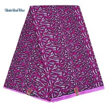 Purple Prints African Wax Fabric Super Wax Hollandais Ankara Fabrics For Women Dress 100% Polyester African Fabric