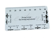 1pc Guitar String Action Gauge Ruler Measuring Tool Bass Classical Electric Acoustic