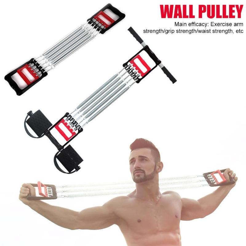 Muti-functional Spring Chest Developer Expander Men Fitness Tension Puller Muscles Exercise Workout Equipment Resistance Bands