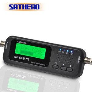Image 2 - ساثيرو SH 100HD DVB S2 عالية الوضوح الرقمية الأقمار الصناعية مكتشف المحمولة satelite مكتشف متر مجانية sat