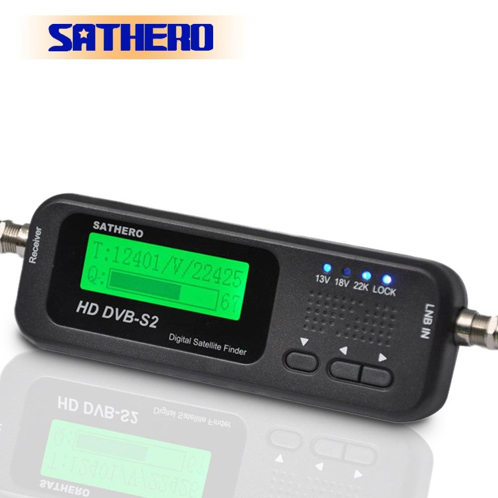 Sathero SH-100HD DVB-S2 высокой четкости цифровой спутниковый искатель портативный satelite Finder метров бесплатная спутниковые программы
