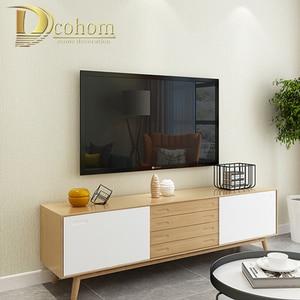 Image 3 - Katı Renk Keten Saman Duvar Kağıdı Koyu Gri Modern Oturma Odası Yatak Odası TV Arka Plan Duvar Ev Dekor dokunmamış Duvar kağıt rulolar