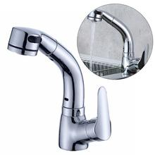 Pull-Out Sink Faucet Hot And Cold Water Faucet Spring Tap Kitchen Mixer Single Hole Water Basin Faucet Bathroom Accessories 68 45cm stainless steel kitchen sink big size topmount single bowl water tank pull out kitchen faucet sink accessories
