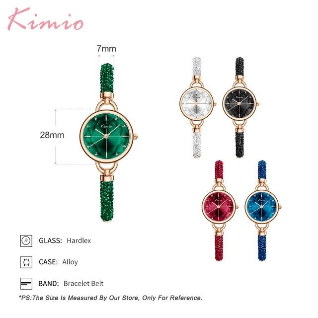 KIMIO Diamond Bracelet Women's Watches Bandage Crystal Watch Women Brand Luxury Female Wristwatch Dropshipping 2021 New Arrivals 6