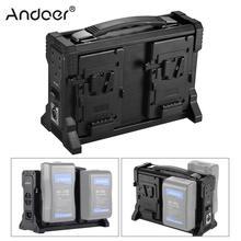 Andoer AD 4KS 4 Kanaals Camcorder Batterij Lader voor V Mount Batterij voor DSLR Video Camera