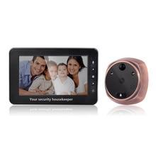 4,3 дюймов 3MP дверной домофон глазок зритель обнаружения движения видео дверной телефон