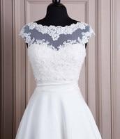 High Quality White 2017 Tulle With Appliques Bead Tank Bridal Wedding Bolero Jacket Wedding Lace Shrug