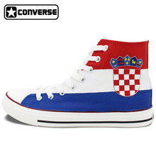 Custom Hand Painted Shoes Croatia Flag Converse All Star Men Women High Top Canvas Sneaker Birthday Christmas Gifts Man Woman