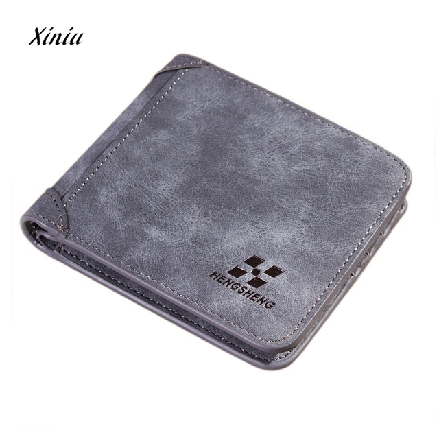 Men Leather Id Credit Card Holder Clutch Coin Purse Wallet Business Packet High Quality Short