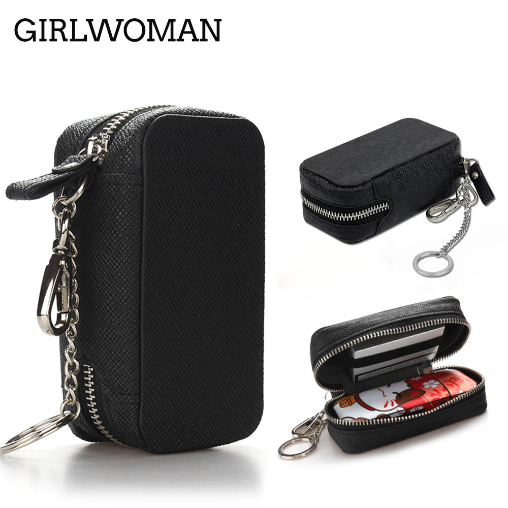 GIRLWOMAN Wallet Zipper Cases for IQOS 2.4 Plus Box Holder Cover Wallet Case Electronic Cigarette iQOS PU Leather Carrying Case