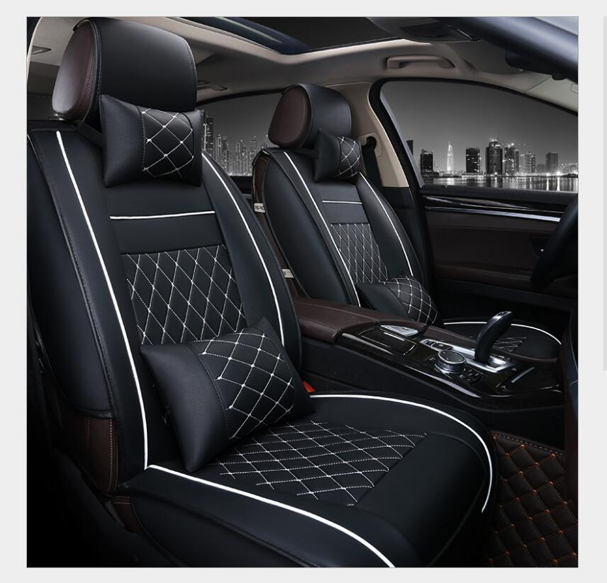 SEAT ATECA SUV Leather Look MAYFAIR Black FRONT Car Seat Covers
