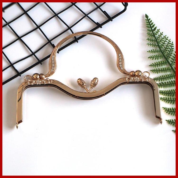 Nabi 2018 Bronze DIY Purse Handbag Handle Coins Bags Metal Kiss Clasp Lock Frame 7/11/14/16.5/18/20/21/28cm