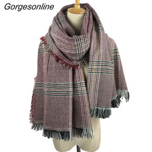 New Fashion Style Quality Newest Cashmere feel Blanket Houndstooth Winter Scarf For Women Girl's Long Wrap Shawl