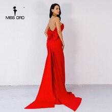 Missord 2017 Сексуальная завернутый груди лук холтер maxi dress party dress FT4792