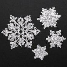 Штанцевых форм высечки умирает трафареты снежинка скрапбукинг трафарет ремесло декоративные рождество