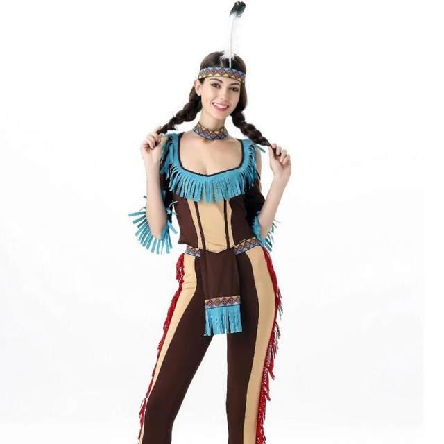 halloween costume native american costume cos uniform seduction gypsy forest hunter hawaii costume summer dress sexy costume