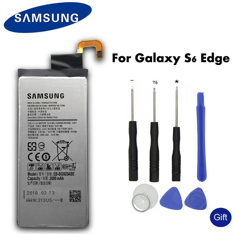 Original de SAMSUNG batería de repuesto EB-BG925ABE 2600 mAh para Samsung GALAXY S6 borde G9250 G925FQ G925F G925S S6Edge G925V G925A