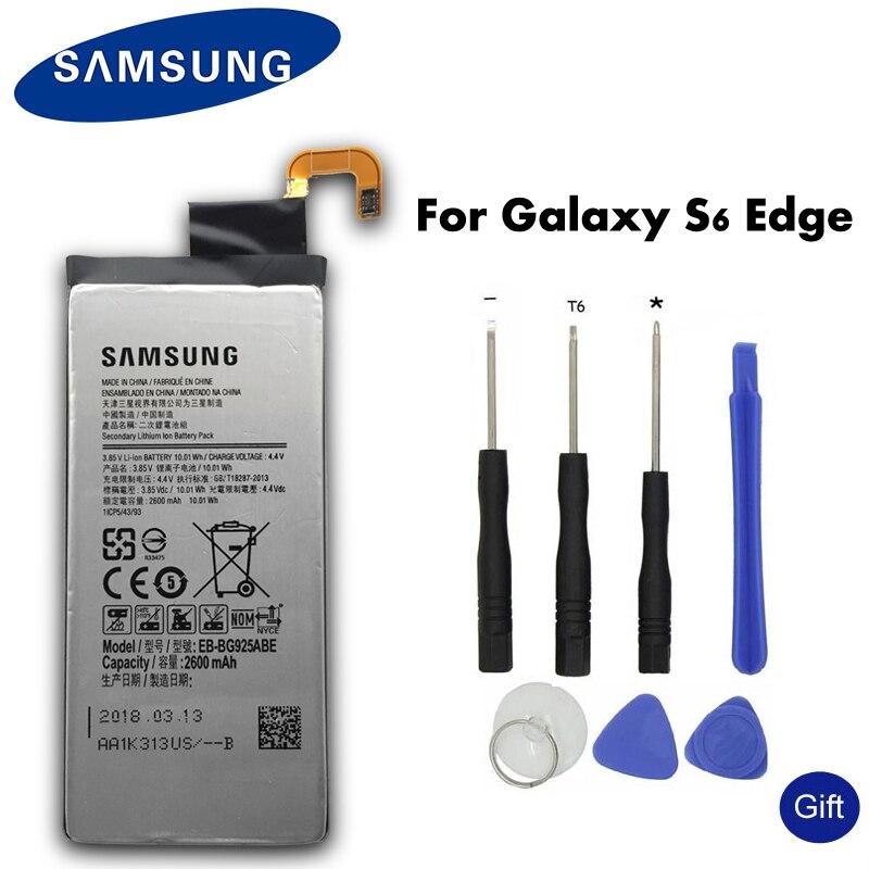 SAMSUNG Original Batterie De Rechange EB-BG925ABE 2600 mah Pour Samsung GALAXY S6 Bord G9250 G925FQ G925F G925S S6Edge G925V G925A