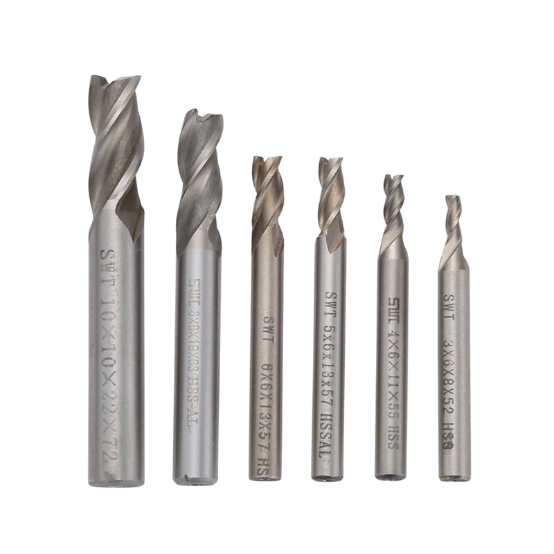 3 Flutes End Mill Drill Bit Carbide Milling Cutter 6 Pcs Diameter 3/4/5/6/8/10mm Machine Accessories CNC  Tools router bit 8 8 35 100 of 3 flutes flat end mills carbide end milling tungsten knife cnc machine tools mills cutter