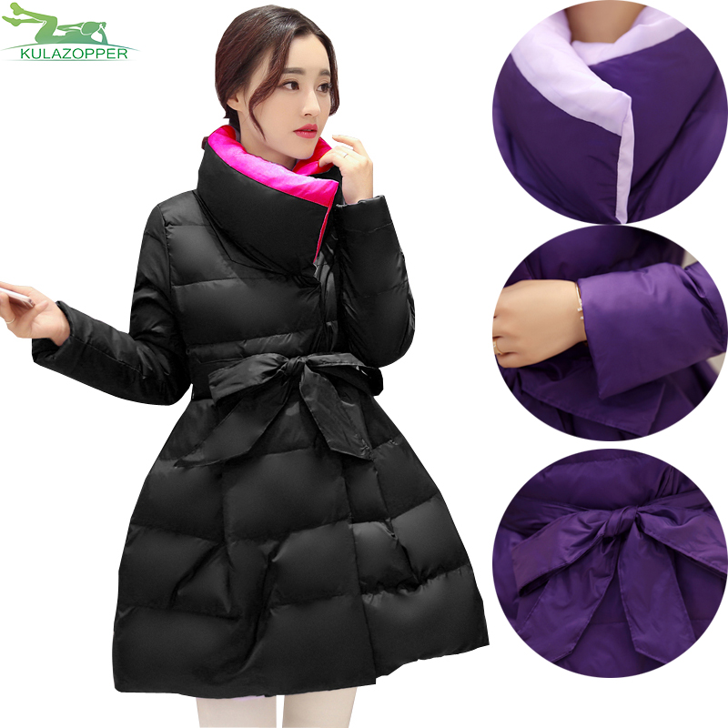 2017 Pregnant women parka jacket winter fashion coat thickening cotton loose A word padded jacket winter long outwear QW639 pregnant women of han edition easy to film a word long woman with thick cotton padded clothes coat quilted jacket down jacket