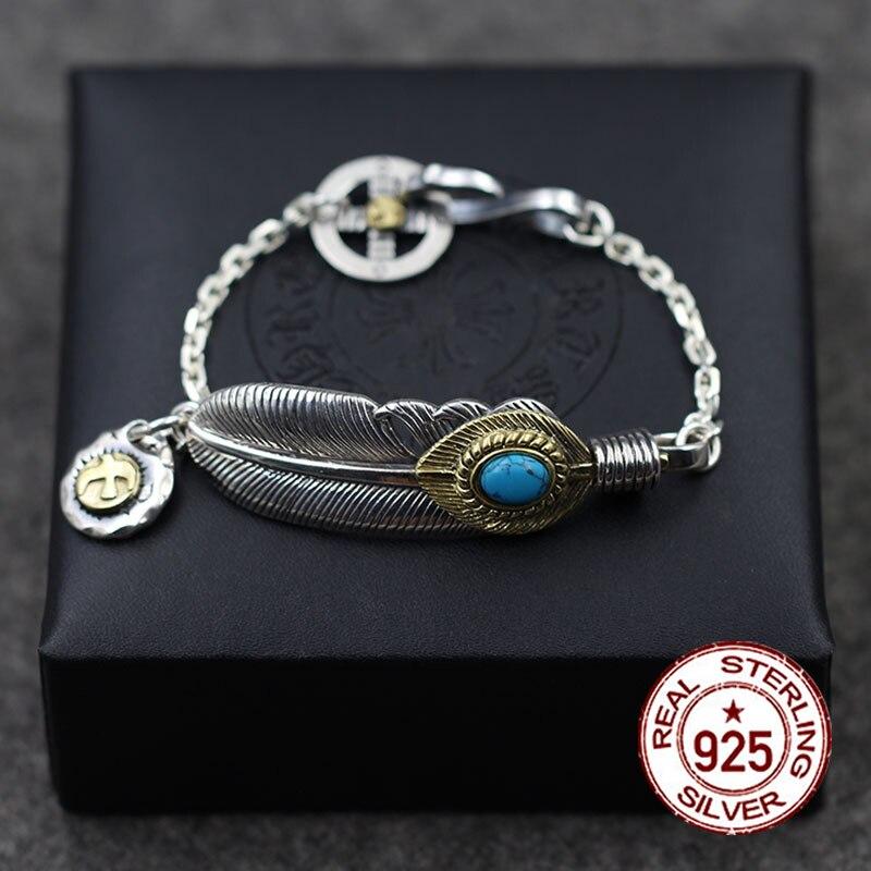 S925 bracelet en argent sterling bijoux de mode personnalité classique style rétro en laiton oiseau modélisation envoyer le cadeau de l'amant 2018 chaud
