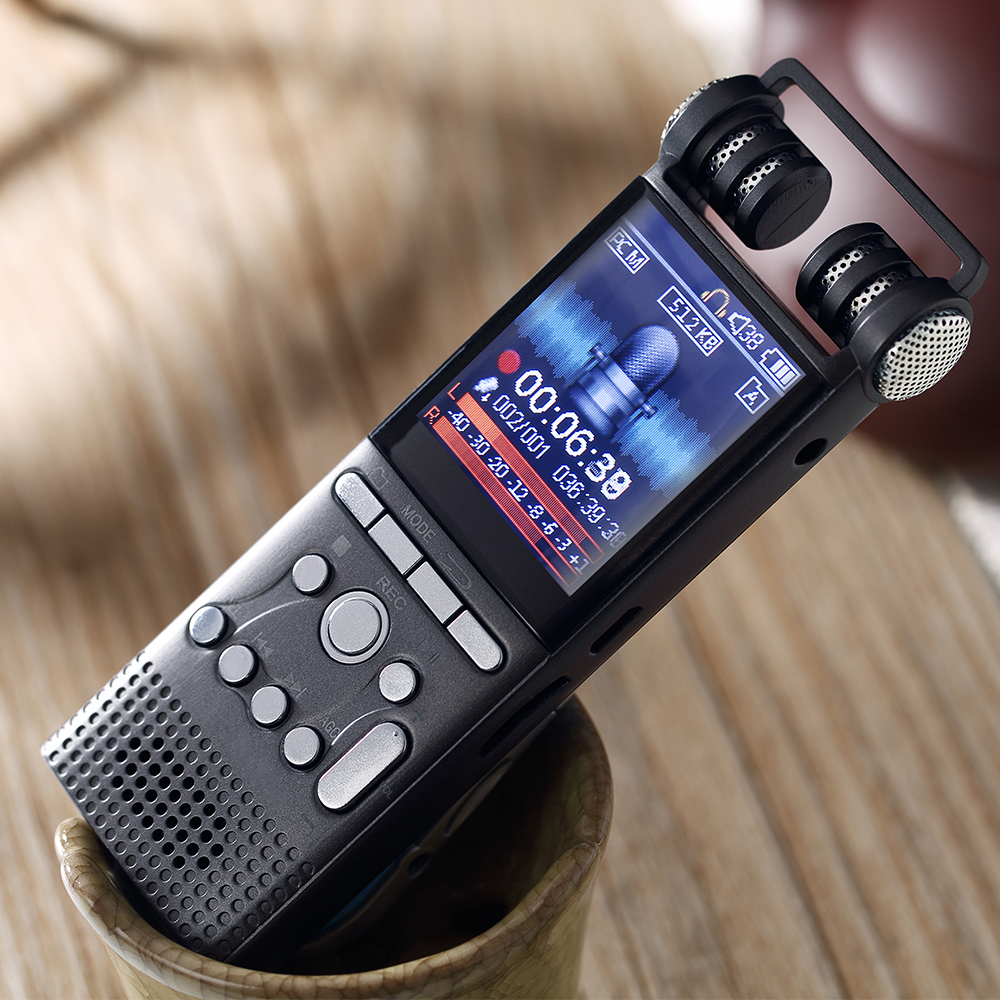 Professional Audio Recorder Metal Voice Tracker Portable Business Digital Voice Recorder 8GB/16GB Telephone Recording MP3 Player стоимость