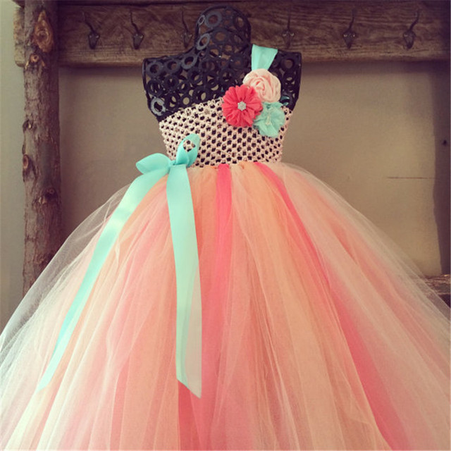 Girl fairy Flower girl dress wedding party princess tutu dresses ...