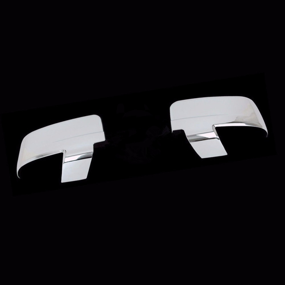 XYIVYG Triple Chrome ABS Mirror Cover with Turn Signal Light Hole 09-16 for Dodge Ram 1500 2500 3500 xyivyg 2006 2008 for dodge ram 1500 2500 3500 mesh style front hood grille glossy black abs