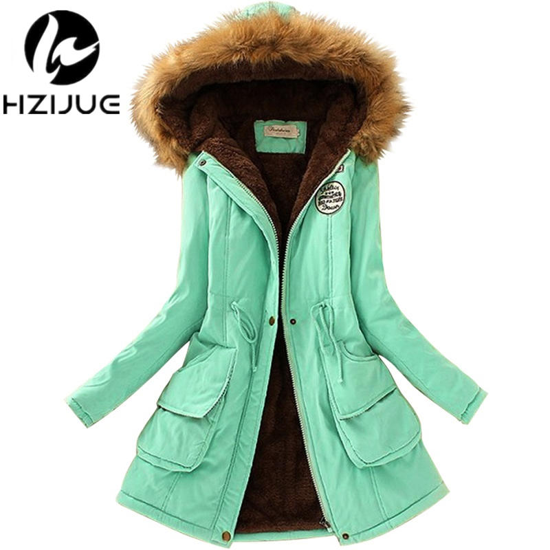 2017  Women Coats Fashion Autumn Warm Winter Jackets Women Fur Collar Long Parka Plus Size Hoodies Casual Cotton Outwear Hot hot sale winter jacket men fashion cotton coat warm parka homme men s causal outwear hoodies clothing mens jackets and coats