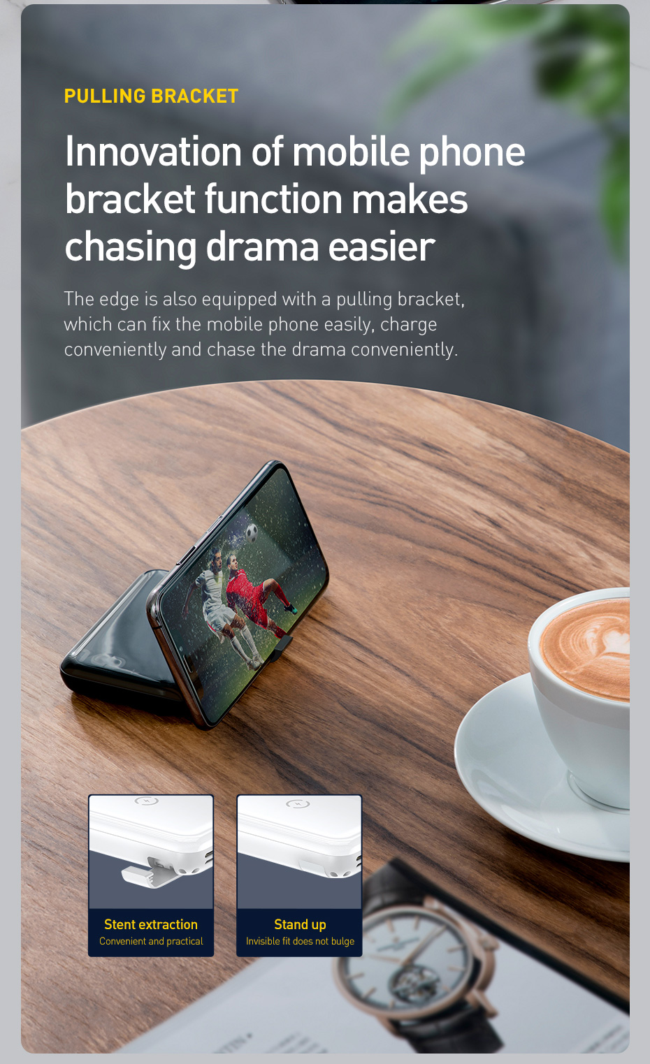 Baseus 10000mAh Qi Wireless Charger Power Bank for iPhone Samsung Huawei Powerbank PD Quick Charge 3.0 Portable External Battery 16