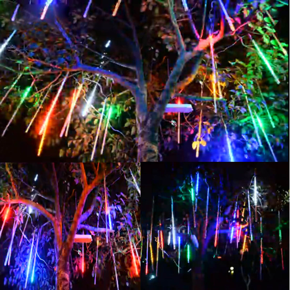 ac 110-220v Adaptable Jiawen Meteor Light 8-tube 448-3528smd 50cm Colorful Led String Lights Us Plug Easy And Simple To Handle
