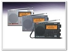 TECSUN PL 600 フルバンド合成ステレオデジタルチューナー細く AM FM 、 LW 、 SW SSB 短波ポータブルラジオ時計