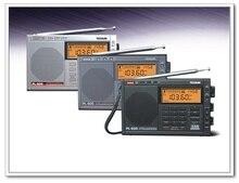 Tecsun sintonizado digital estéreo, sincronizado, faixa completa, am fm, lw, ssb, rádio de ondas curtas, portátil, com relógio PL 600