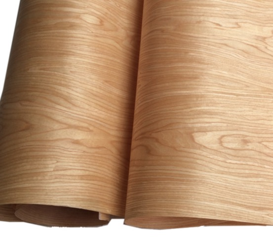 Length: 2.5Meters Thickness:0.25mm  Width: 60cm Technology Cherry Pattern Veneer Cabinet Doors Veneer (back non woven fabric)