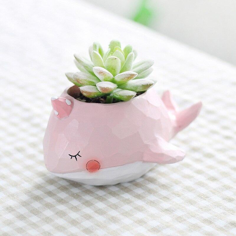 Cute Plant Pots Part - 19: Aliexpress.com : Buy Creative Dinosaur Whale Cute Cartoon Resin Flower Pots  Elephant Animals Succulent Plant Pots Bonsai Planter Home Decoration From  ...