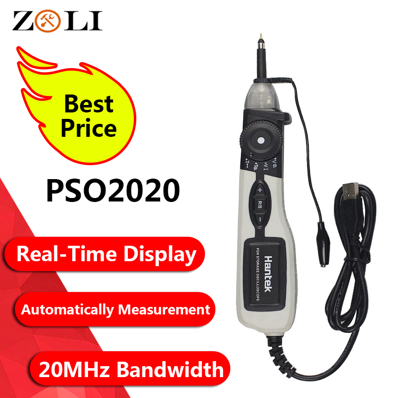 2019 Hantek PSO2020 Pen Type PC USB Digital Oscilloscope Hantek PSO2020 Portable Storage Oscilloscope 96MSa s