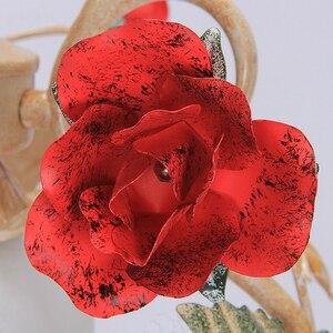 Image 3 - Lámpara Led con forma de rosa roja para decoración de restaurante, cocina, moderna, balcón, pasillo