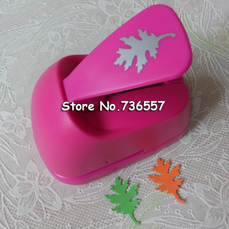 Free Shipping M size Oak leaves shape save power paper/eva foam craft punch Scrapbook Handmade punchers DIY hole punches puncher