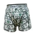 Hombres boxeadores de la ropa de Los Nuevos Hombres Atractivos boxeadores de Impresión De Algodón Spandex ropa interior de los hombres Boxeadores cuecas dólares de Moda pantalones cortos para hombres boxeador