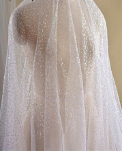 ivory mesh lace, sequined gauze sequin netting lace fabric, bridal tulle with water drop