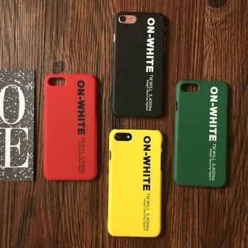 iPhone 6 6s Plus 7 8 X XS 커버 솔리드 TPU 하드 케이스 Coque iPhone 7 Plus 8 X 솔리드 반 랩 코카인 Capa ア イ フ ォ ン x ケ ー ス off white