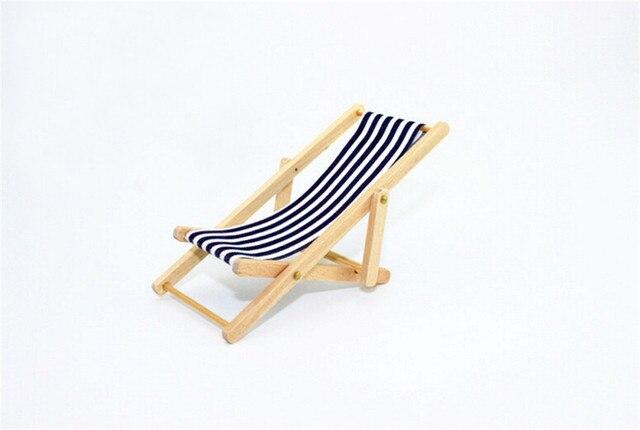 transat en bois salon chaise de plage pour belle miniature pour poupes barbie pliable maison couleur - Transat De Plage