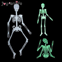1pcs Scary Halloween Decoration Halloween Props Luminous Hanging Decoration Outdoor Party Horror Luminous Movable Skull Skeleton hot sale giant horror bending inflatable halloween skull hanging head skeleton for party decoration page 8 page 3
