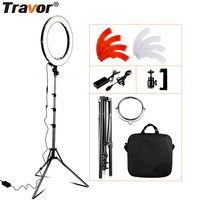 Travor RL 18 Dimmable photography ring light with carry bag 240pcs led beads inside 55w ringlight lamp for makeup & light tripod