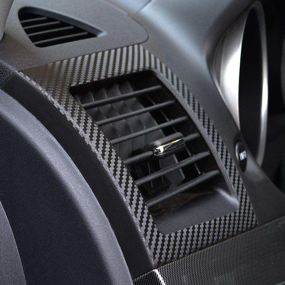 Car carbon sticker design - Car Air Conditioning Outlet Sticker Carbon Fiber For Mitsubishi Lancer Ex 2010 2011 2012 1pair